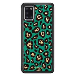 Casimoda Samsung Galaxy A31 hoesje - Luipaard groen