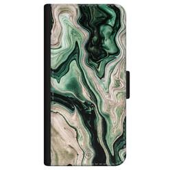 Casimoda iPhone 12 flipcase - Marmer groen goud