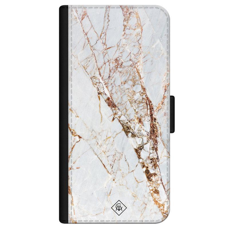 Casimoda iPhone 12 flipcase - Marmer goud