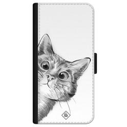 Casimoda iPhone 12 flipcase - Kat kiekeboe