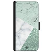 Casimoda iPhone 12 flipcase - Minty marmer collage