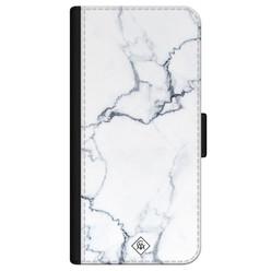 Casimoda iPhone 12 flipcase - Marmer grijs