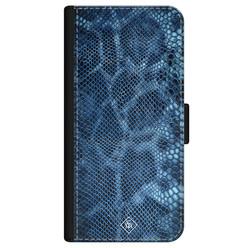 Casimoda iPhone 12 flipcase - Slangenprint blauw