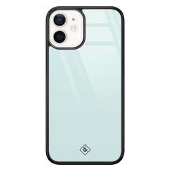 Casimoda iPhone 12 mini glazen hardcase - Pastel blauw