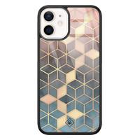Casimoda iPhone 12 mini glazen hardcase - Cubes art