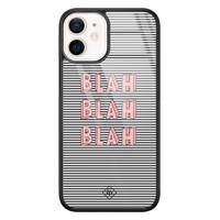 Casimoda iPhone 12 mini glazen hardcase - Blah blah blah