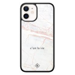 Casimoda iPhone 12 mini glazen hardcase - C'est la vie