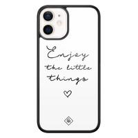Casimoda iPhone 12 mini glazen hardcase - Enjoy life