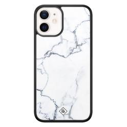 Casimoda iPhone 12 mini glazen hardcase - Marmer grijs