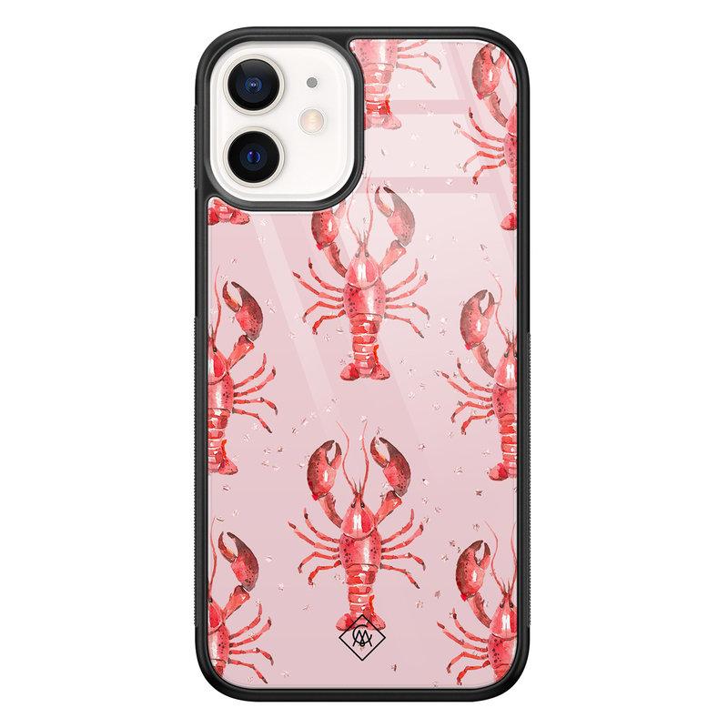 Casimoda iPhone 12 mini glazen hardcase - Lobster all the way