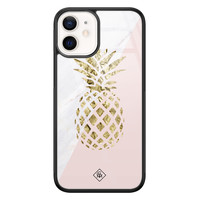 Casimoda iPhone 12 mini glazen hardcase - Ananas
