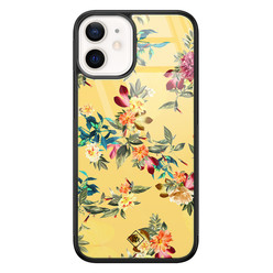 Casimoda iPhone 12 mini glazen hardcase - Florals for days