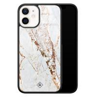 Casimoda iPhone 12 mini glazen hardcase - Marmer goud