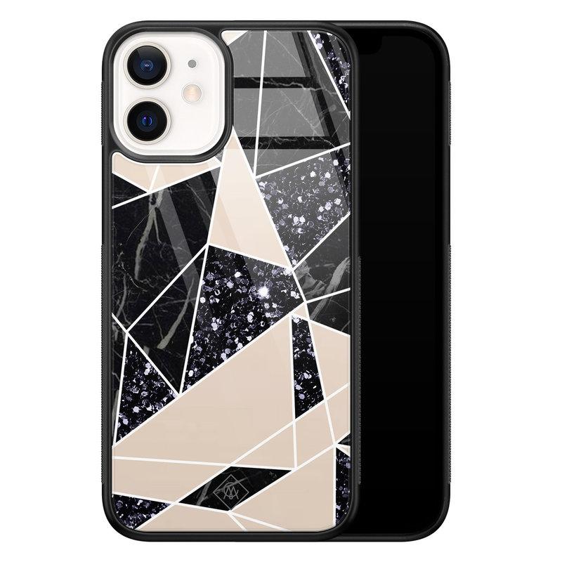 Casimoda iPhone 12 mini glazen hardcase - Abstract painted