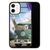Casimoda iPhone 12 mini glazen hardcase - Lama adventure