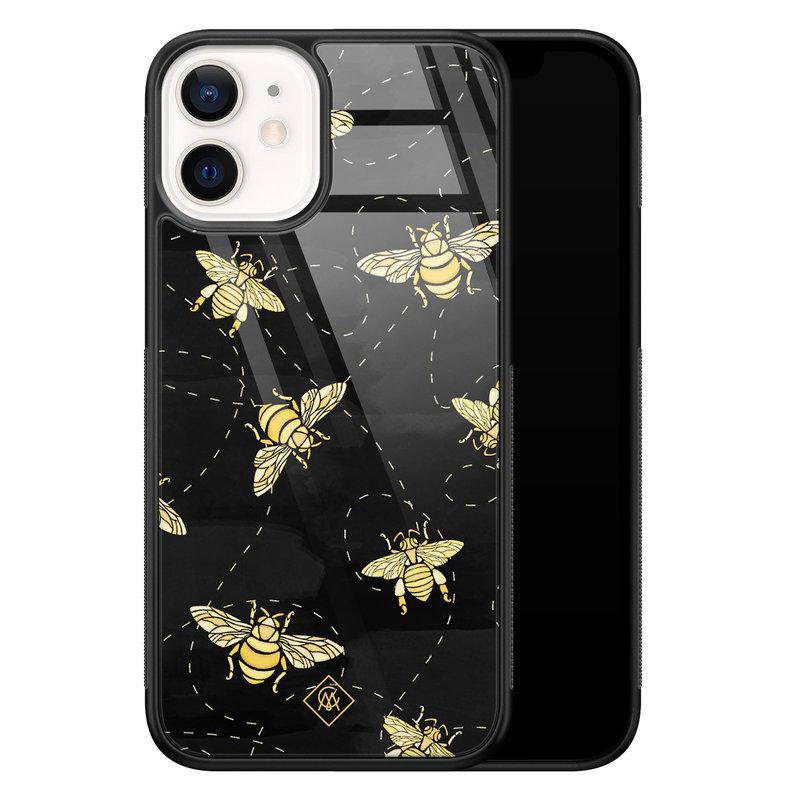 Casimoda iPhone 12 mini glazen hardcase - Bee yourself