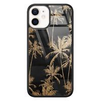 Casimoda iPhone 12 mini glazen hardcase - Palmbomen