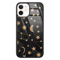 Casimoda iPhone 12 mini glazen hardcase - Counting the stars