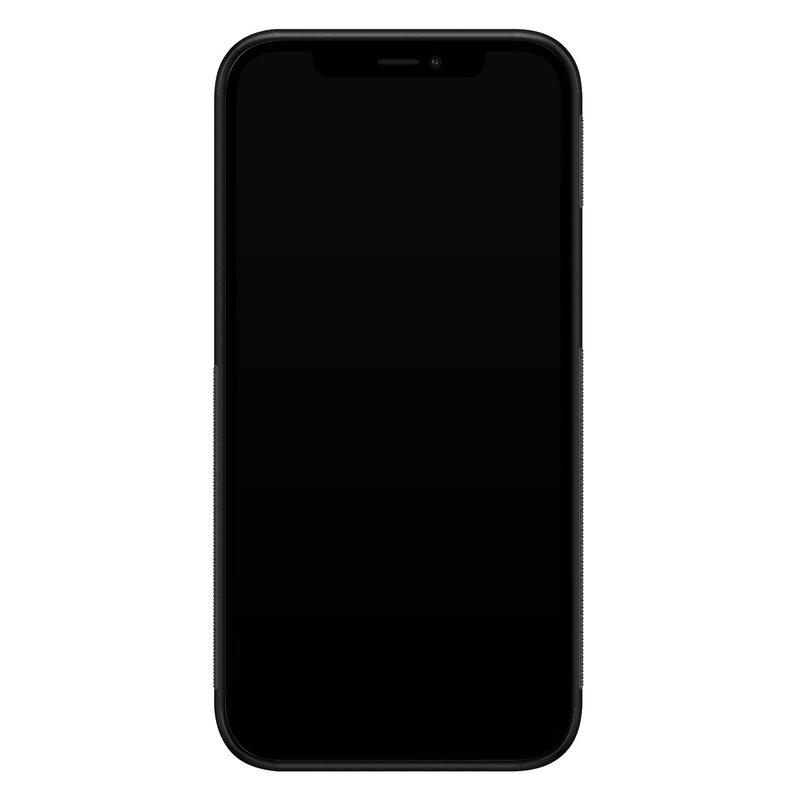 Casimoda iPhone 12 mini glazen hardcase - Tartan blauw