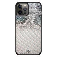 Casimoda iPhone 12 Pro Max glazen hardcase - Oh my snake