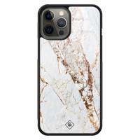 Casimoda iPhone 12 Pro Max glazen hardcase - Marmer goud