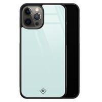 Casimoda iPhone 12 Pro Max glazen hardcase - Pastel blauw