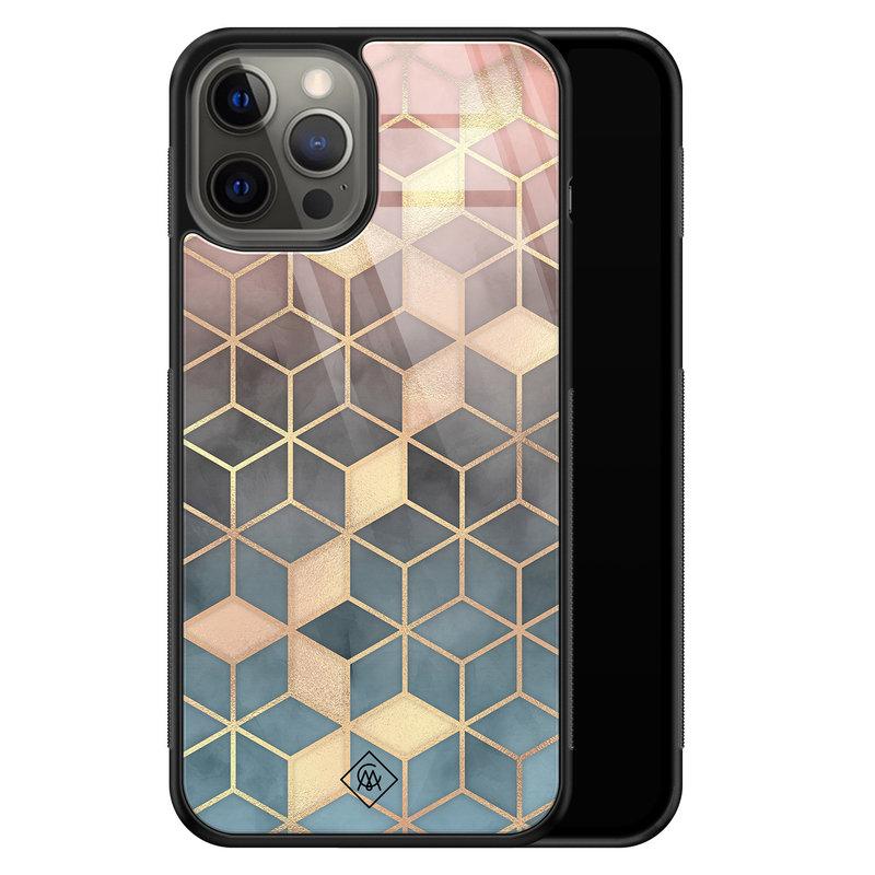 Casimoda iPhone 12 Pro Max glazen hardcase - Cubes art