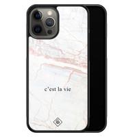 Casimoda iPhone 12 Pro Max glazen hardcase - C'est la vie