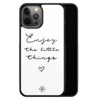 Casimoda iPhone 12 Pro Max glazen hardcase - Enjoy life