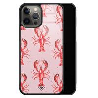 Casimoda iPhone 12 Pro Max glazen hardcase - Lobster all the way