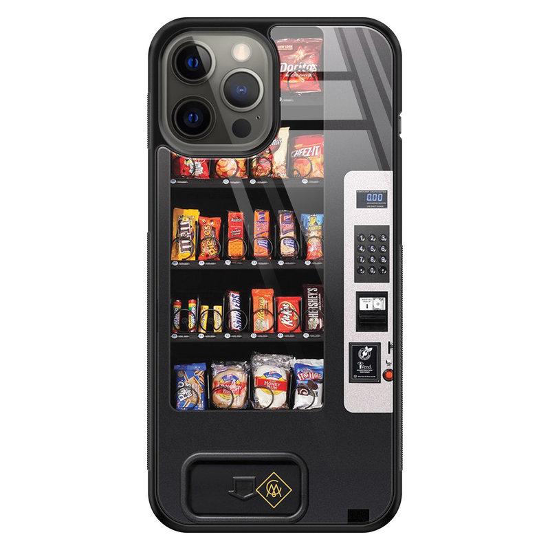 Casimoda iPhone 12 Pro Max glazen hardcase - Snoepautomaat