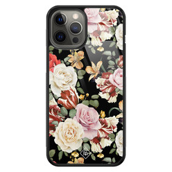 Casimoda iPhone 12 Pro Max glazen hardcase - Flowerpower