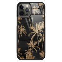 Casimoda iPhone 12 Pro Max glazen hardcase - Palmbomen