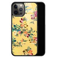 Casimoda iPhone 12 Pro Max glazen hardcase - Florals for days