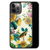 Casimoda iPhone 12 Pro Max glazen hardcase - Sunflowers