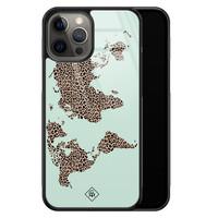 Casimoda iPhone 12 Pro Max glazen hardcase - Wild world