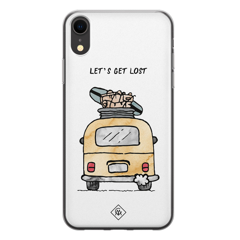 Casimoda iPhone XR siliconen hoesje - Let's get lost