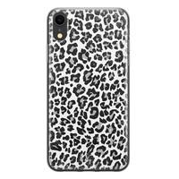 Casimoda iPhone XR siliconen telefoonhoesje - Luipaard grijs