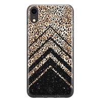 Casimoda iPhone XR siliconen hoesje - Chevron luipaard