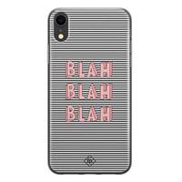 Casimoda iPhone XR siliconen telefoonhoesje - Blah blah blah