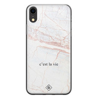 Casimoda iPhone XR siliconen telefoonhoesje - C'est la vie