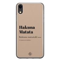Casimoda iPhone XR siliconen hoesje - Hakuna matata