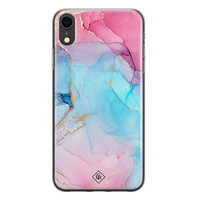 Casimoda iPhone XR siliconen hoesje - Marble colorbomb