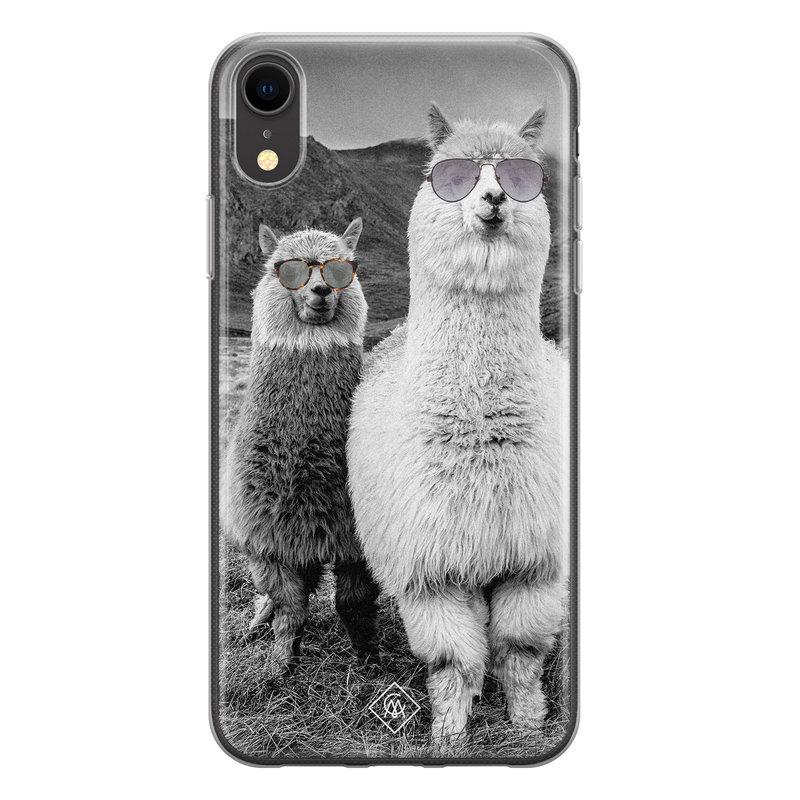 Casimoda iPhone XR siliconen telefoonhoesje - Llama hipster