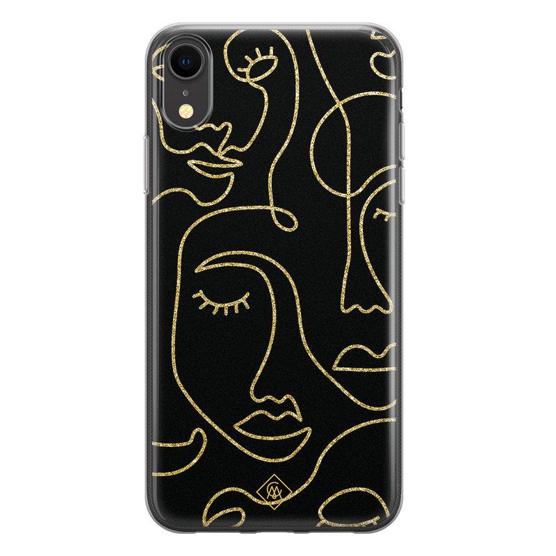 Casimoda iPhone XR siliconen hoesje - Abstract faces