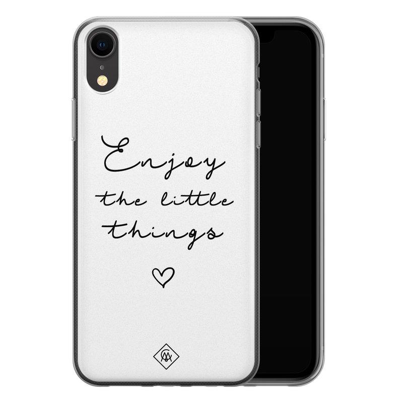 Casimoda iPhone XR siliconen hoesje - Enjoy life