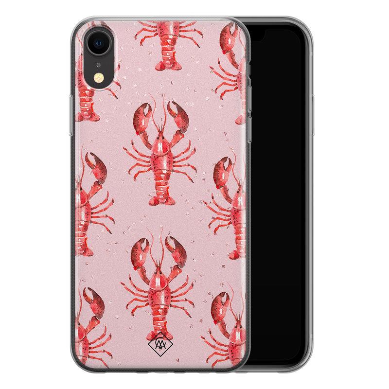 Casimoda iPhone XR siliconen telefoonhoesje - Lobster all the way
