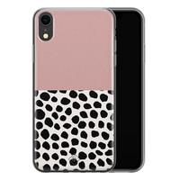Casimoda iPhone XR siliconen hoesje - Pink dots