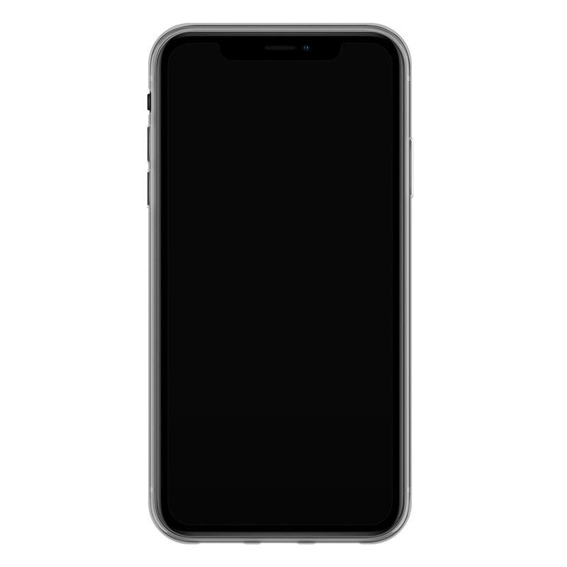 Casimoda iPhone XR siliconen telefoonhoesje - Stone & leopard print