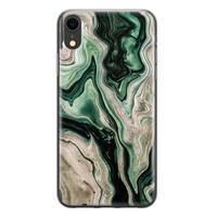 Casimoda iPhone XR siliconen hoesje - Green waves